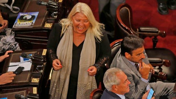 Carrió en la apertura de la Asamblea Legislativa