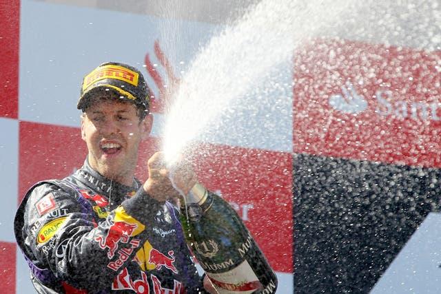 El festejo de Vettel