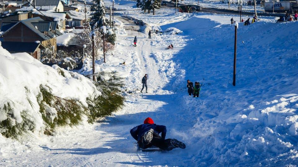 Las nevadas en San Carlos de Bariloche. Foto: DyN / Diario Río Negro