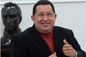Chávez, durante una de sus últimas apariciones, a mediados de agosto