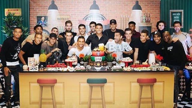 El festejo del cumpleaños de Thiago Silva con Neymar
