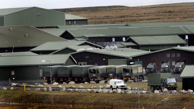 La base militar británica en las Islas Malvinas. Foto: LA NACION / Mauro V. Rizzi