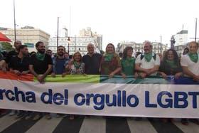 La legisladora María Rachid, presente en la última marcha del orgullo, una de las precursoras de la Defensoría LGBT
