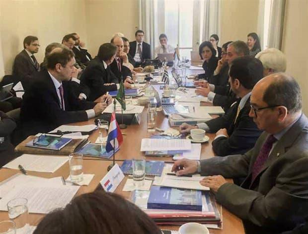 Reunión de coordinadores del Mercosur, anteayer, en Uruguay