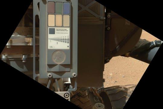 Instrumento de calibración de las cámaras de Curiosity para ajustar los diferentes focos que necesita utilizar en sus fotografías. Foto: NASA