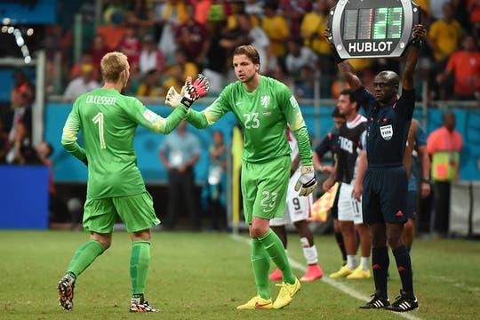 El insólito cambio de Van Gaal para los penales. Foto: AFP