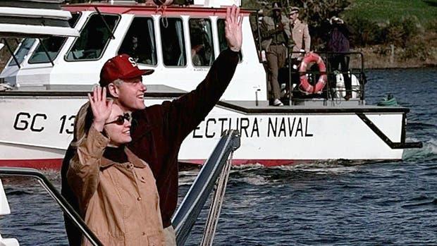 Bill y Hillary Clinton, en Bariloche