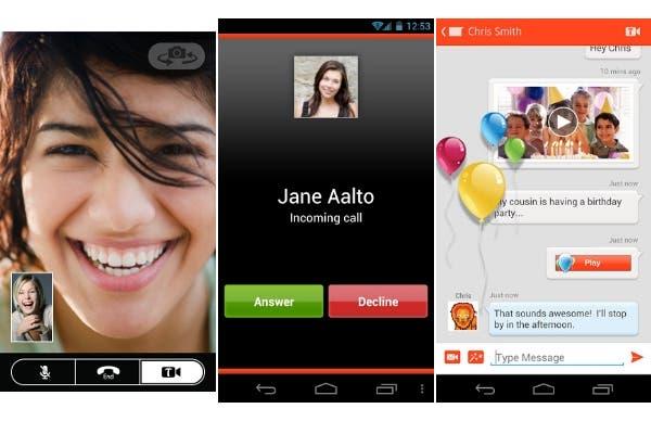 Tango permite llamadas de voz, videoconferencias y mensajería de texto
