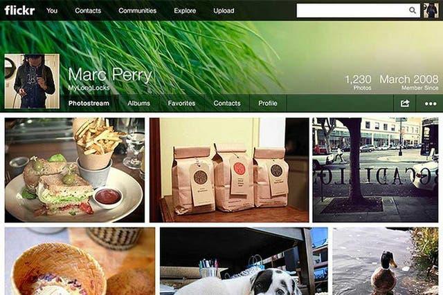 Una vista de la nueva interfaz de Flickr, el álbum digital de Yahoo!