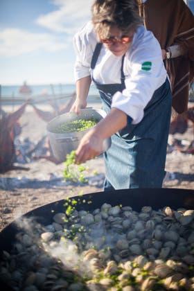 Mariscos, otro de los platos del encuentro