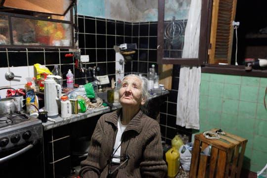 Clementina Rodriguez: con 82 años ya sobreviví a cuatro inundaciones, dijo. Foto: LA NACION / Ignacio Coló
