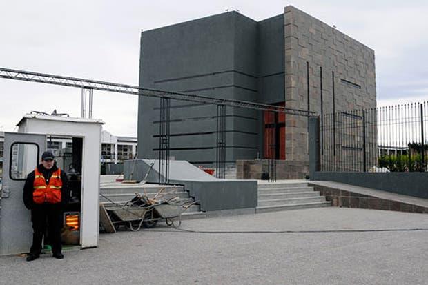 El mausoleo, en su etapa final