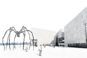 El diseño y la ubicación del museo, según lo proyectaron los arquitectos ganadores del concurso de ideas