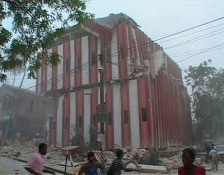 Muchos edificios totalmente destruidios.. Foto: Reuters