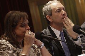 Julio Alak junto a Nilda Garré