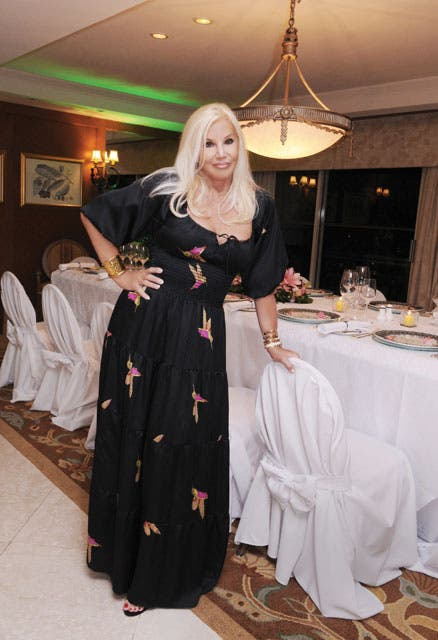 Susana eligió un vestido de Roberto Cavalli para la ocasión. Foto: /Tadeo Jones
