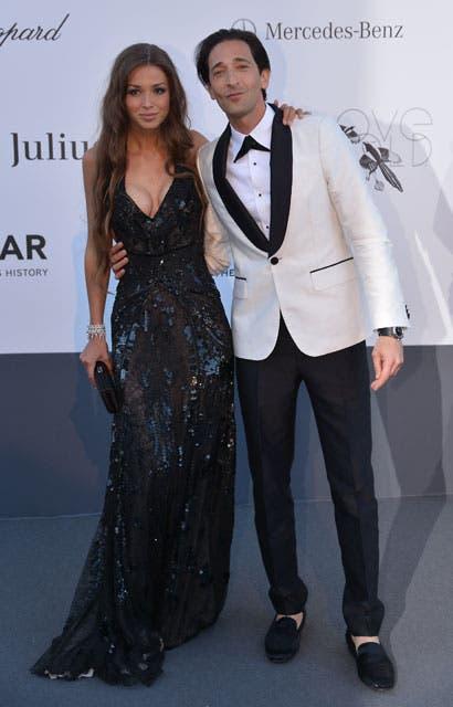 Adrien Brody y su novia. Foto: /Getty Images