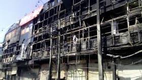 Las protestas causaron daños en edificios.