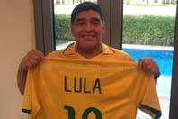 """Las dedicatorias de Maradona: del """"soldado"""" de Lula y Dilma a un gol para su novia"""