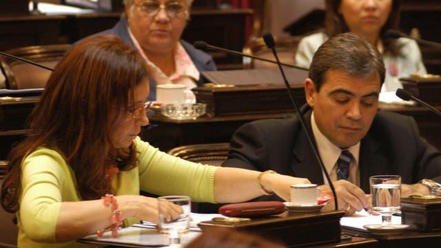 Otros tiempos. Cristina en el Senado junto a Nicolás Fernández