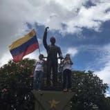 Manifestantes contra Maduro