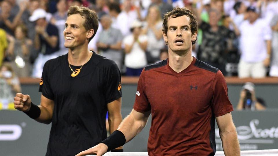 Indian Wells: Andy Murray perdió contra Vasek Pospisil en dos sets