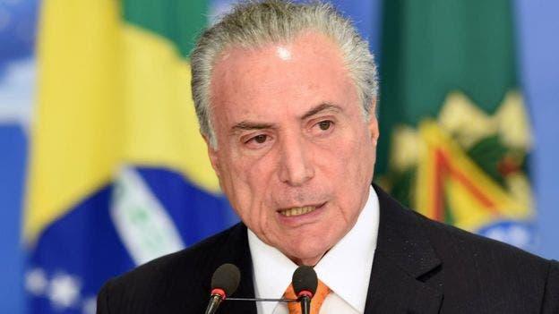Políticos del partido del presidente de Brasil, Michel Temer, están implicados en el escándalo, pero la policía aún no ha dado a conocer quiénes son