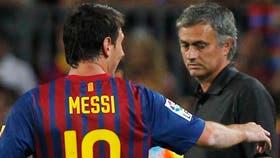 Lionel Messi y José Mourinho