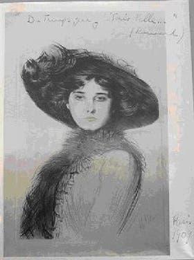 Victoria Ocampo, en París, en 1909