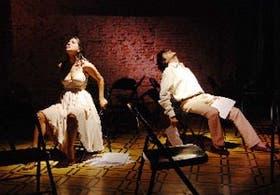Araceli Haberland y Edgardo Dib, en escena