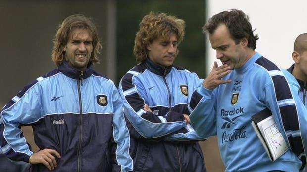 Bati, Crespo y Bielsa, en la selección argentina