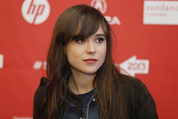 Ellen Page, con el flequillo hacia un costado. Lo usa largo, casi sobre el ojo. Foto: AP