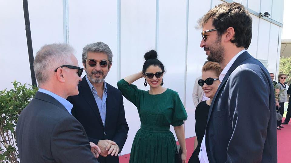 En el festival de Cannes Ricardo Darín, Erica Rivas, Dolores Fonzi y Santiago Mitre presentaron la película La Cordillera.
