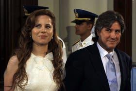 Agustina Kämpfer y Amado Boudou, juntos, en una imagen del 10 de diciembre de 2011, cuando él juró como vicepresidente