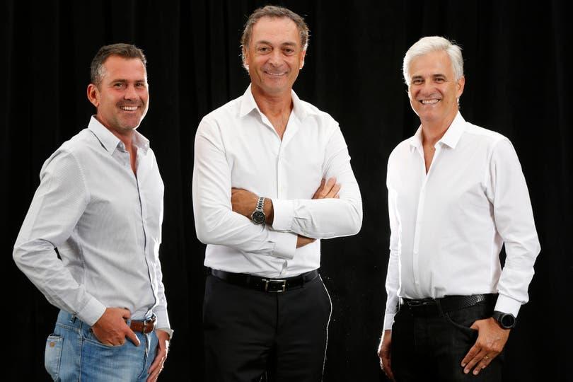 Clerc aspira a presidir el tenis argentino. Lo acompañan Diego Gutiérrez (izquierda) y Daniel Fidalgo (derecha)