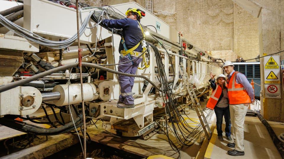 Ultiman los detalles de la tunelera. Foto: LA NACION / Hernán Zenteno