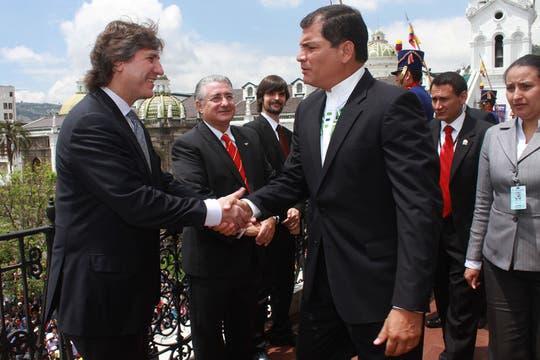 En la Asunción de Correa, en Ecuador. Foto: Télam
