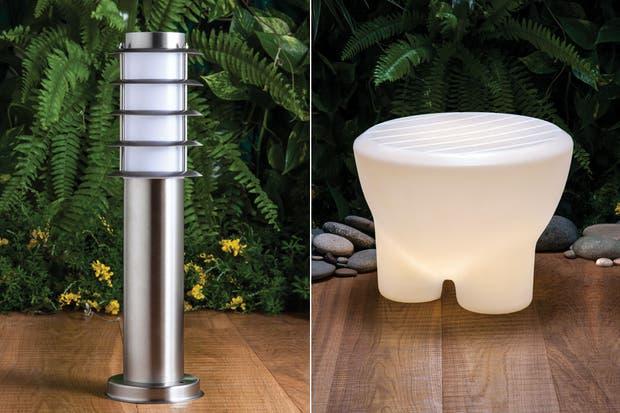 postes bajos de luz led para exterior con base cromada sodimac banco ubodoniu con luz incorporada realizado en polietileno con proteccin uv
