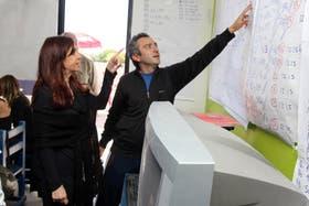 Cristina Kirchner, junto con el jefe de La Cámpora