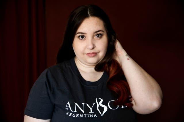 Brenda Mato tiene 27 años, es modelo XL y miembro de la organización social AnyBody Argentina
