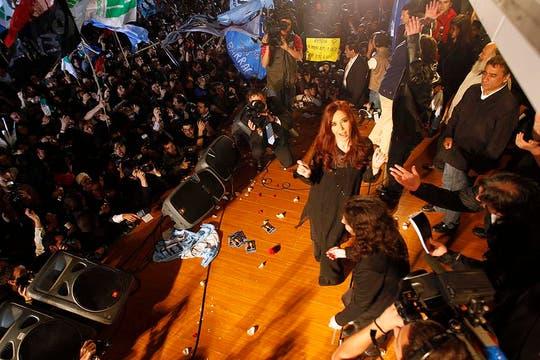 La Presidenta celebró su reelección. Foto: LA NACION / Rodrigo Néspolo