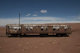 Vagón abandonado en la estación Km 1506. Foto: Soledad Gil