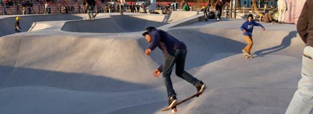 La pista de skate con casi 2100 metros cuadrados es la más grande de sudamérica