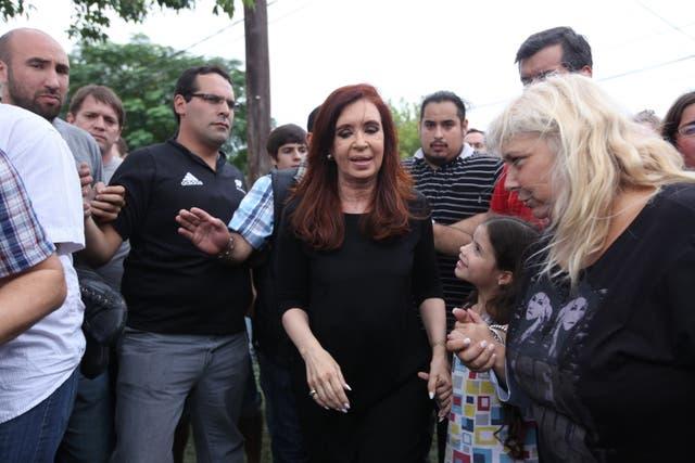 Beatriz Lagormasino, su hija y el saludo a Cristina