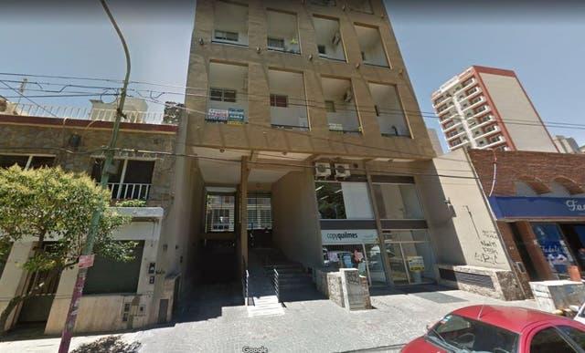 Frente del edificio, ubicado en la calle Lavalle al 700 en Quilmes