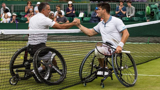 Gustavo Fernández, semifinalista en Wimbledon