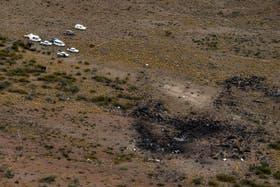Vista aérea del lugar del accidente