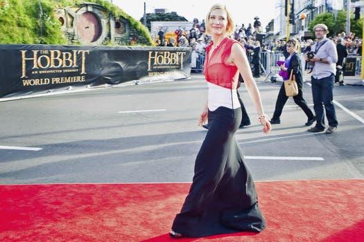 A la actriz Cate Blanchett, que también estuvo en la premiere del prometedor film. Foto: Reuters