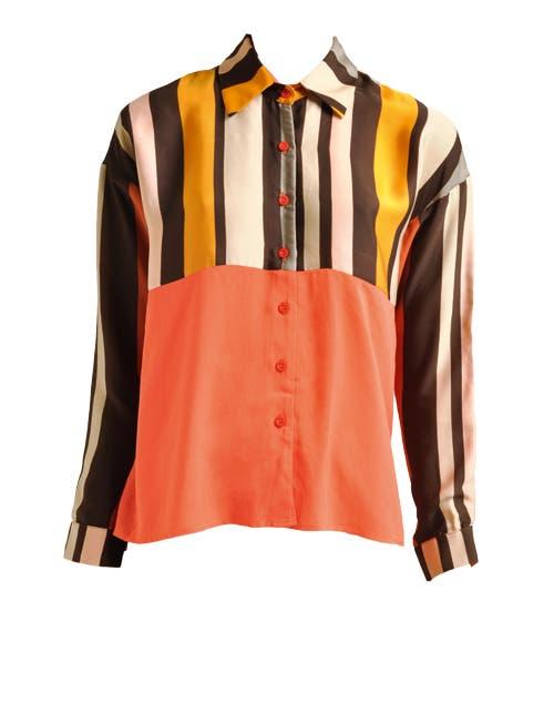 Camisa de saten (Tucci, $542).