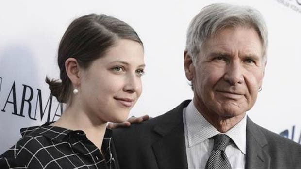 Harrison Ford y su hija Georgia en una de las últimas galas de Hollywood
